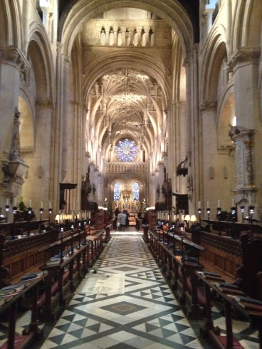 This is the nave of Christ Church Cathedral.