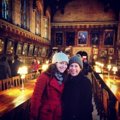 Here we all, all bundled up for Oxford in January. You can tell how beautiful the building is, though.