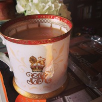 This is not vintage, but it is the official tankard commemorating the Queen's coronation. I got it at Buckingham Palace.